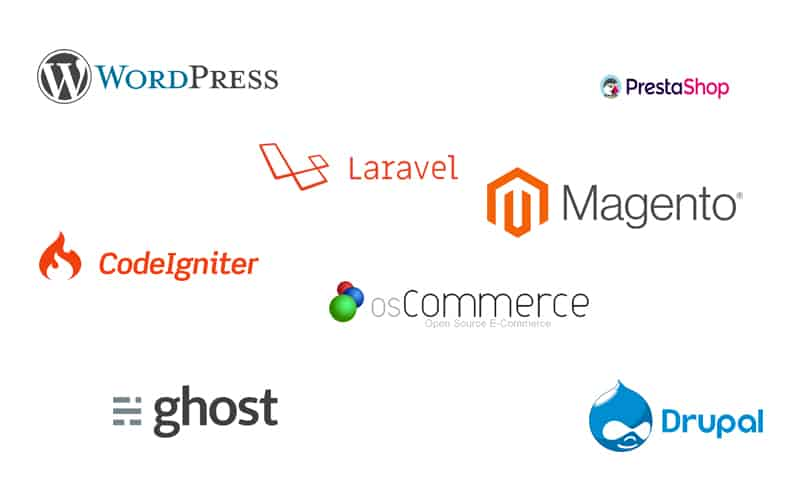 wordpress website, laravel, magento, drupal - website development